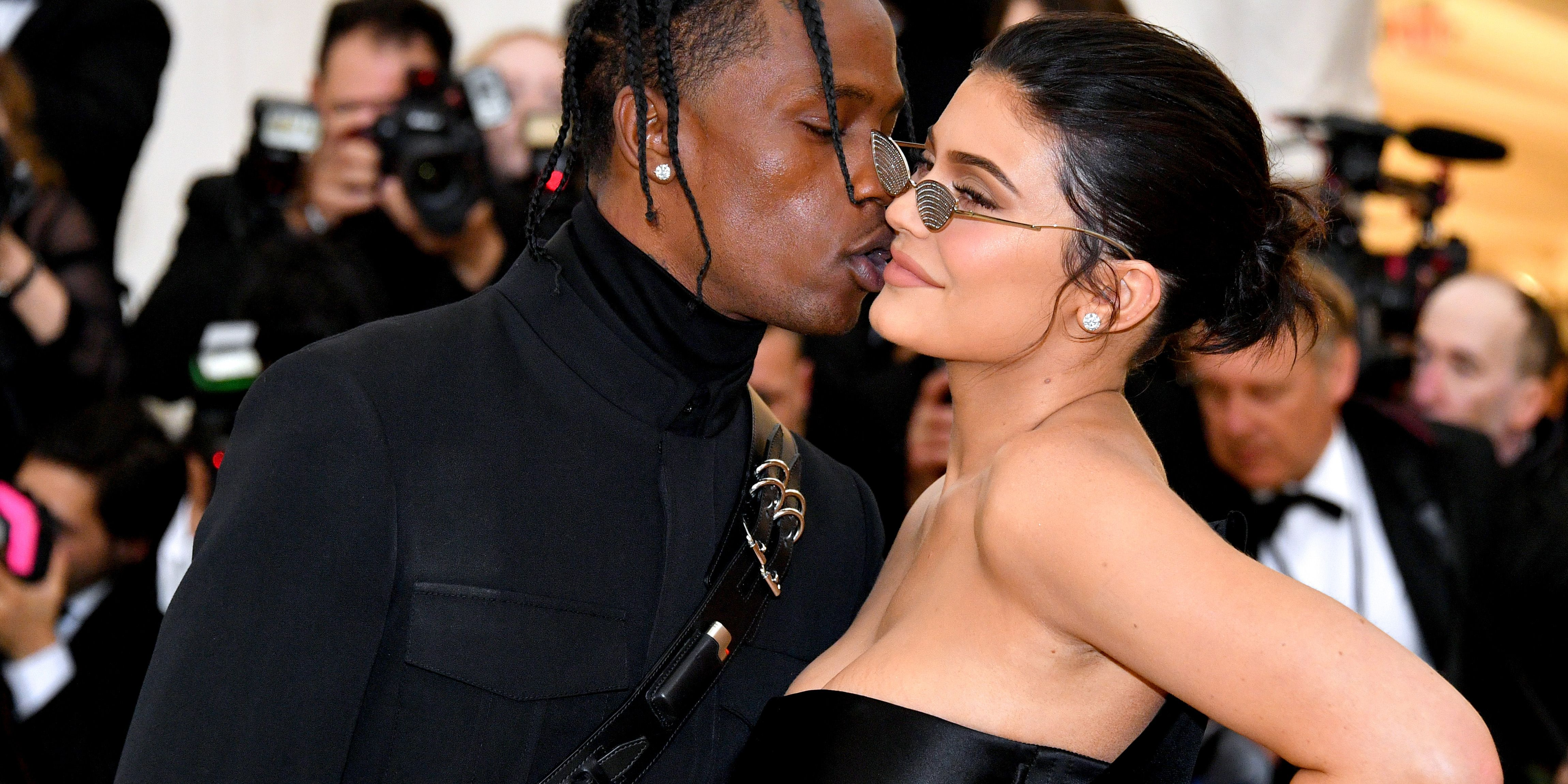 266c49887f9 Kylie Jenner and Travis Scott at Met Gala 2018 - Kylie Jenner First ...