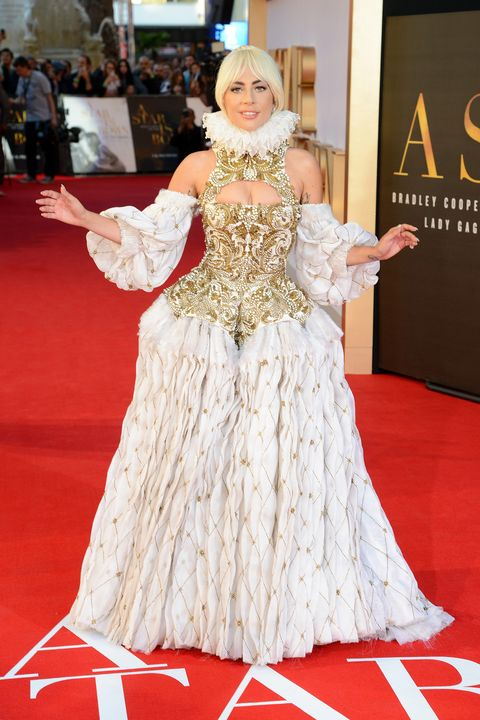 Lady Gaga Wears Alexander Mcqueen To Uk Premiere Of A