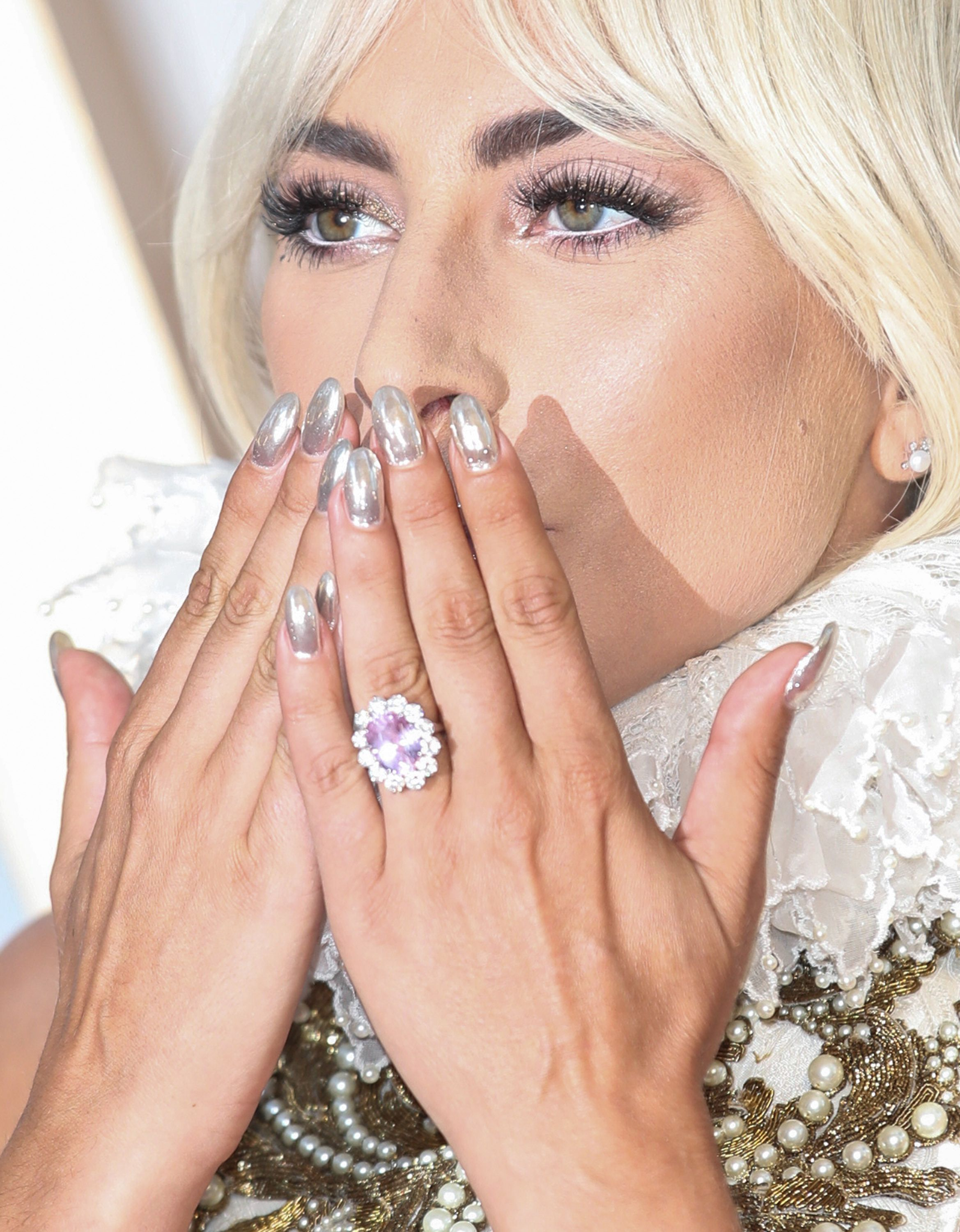 Lady Gaga S Pink Engagement Ring From Christian Carino Is Just Like