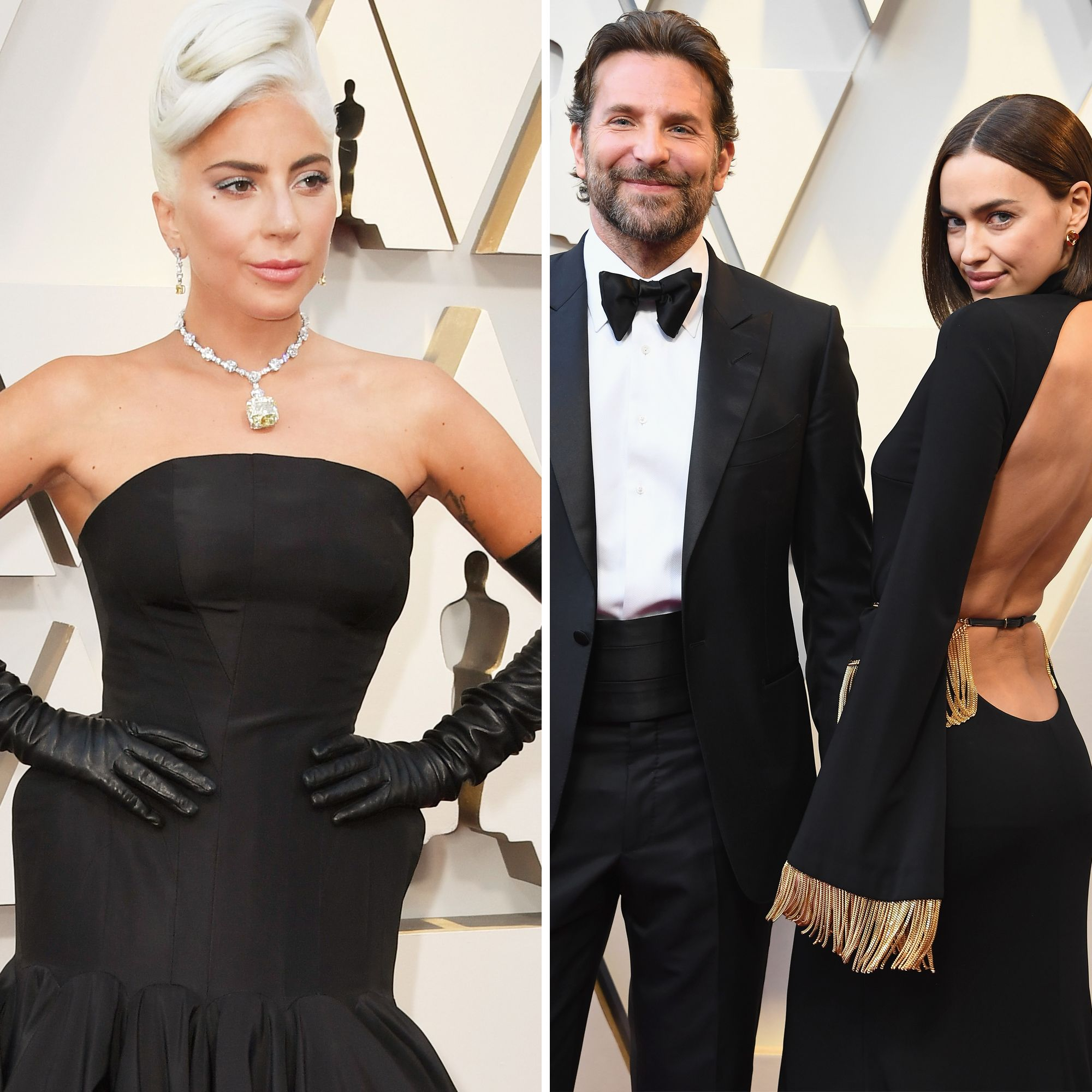 Irina Shayk Sat Between Bradley Cooper and Lady Gaga at the Oscars and the Internet Is Dying