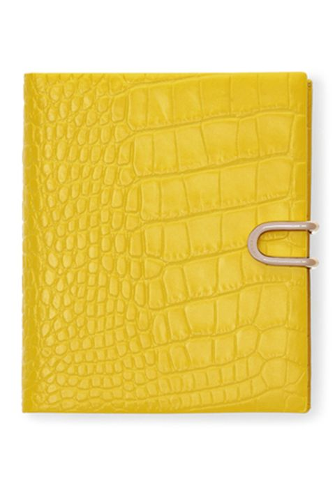 Yellow, Wallet, Fashion accessory, Material property, Leather, Rectangle,