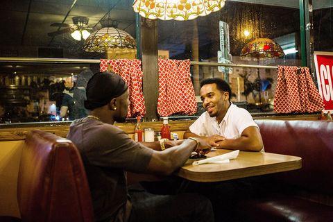 Restaurant, Interaction, Temple, Night, Conversation, Cuisine, Fast food,