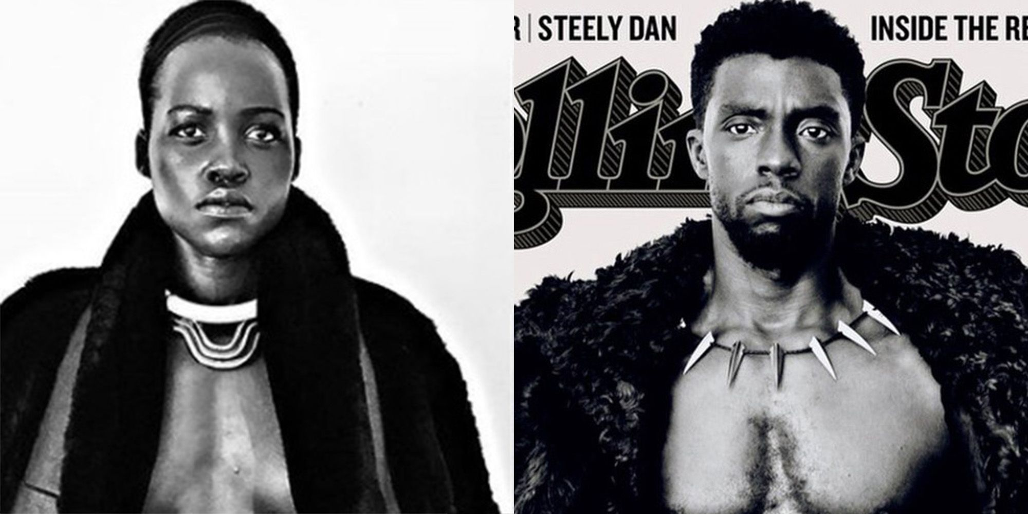 Lupita Nyong O Recreates Chadwick Boseman S Shirtless Rolling Stone Cover