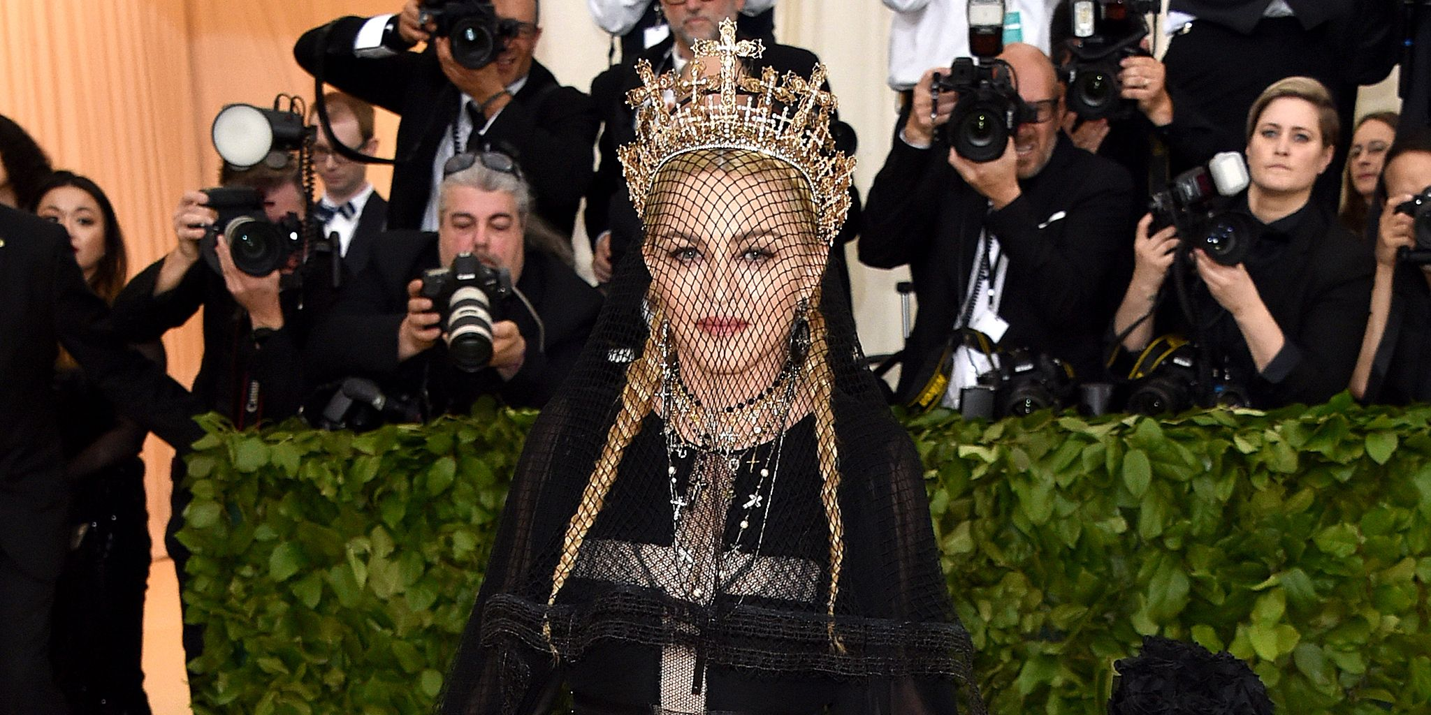madonna wore a ton of crosses to the 2018 met gala