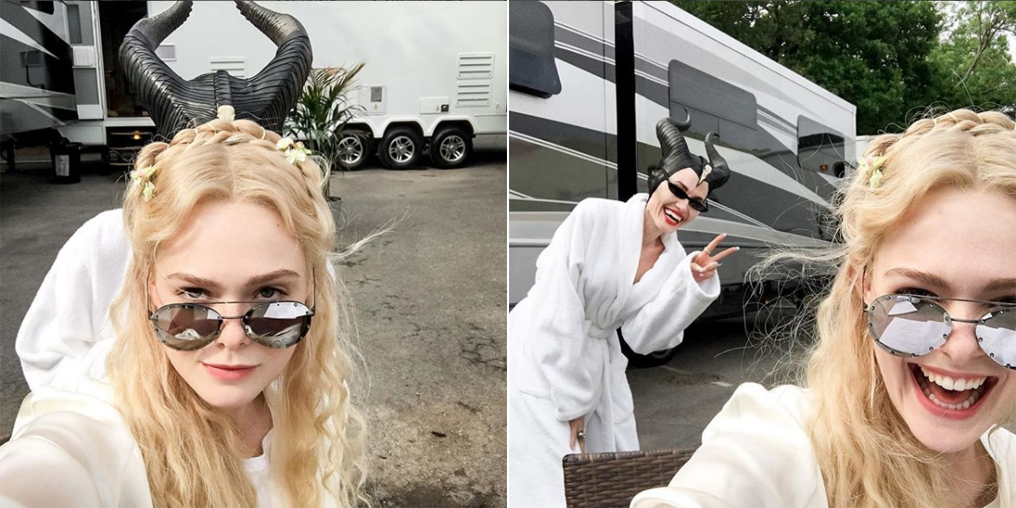 Angelina Jolie And Elle Fanning Tease Maleficent 2 With