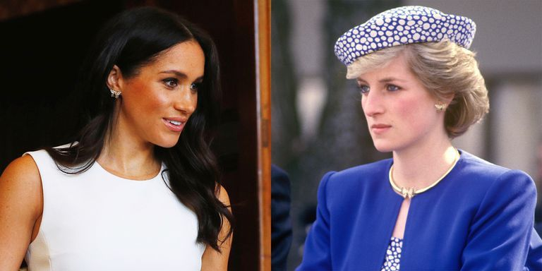 meghan markle wore princess diana s butterfly earrings and gold bracelet meghan markle wore princess diana s