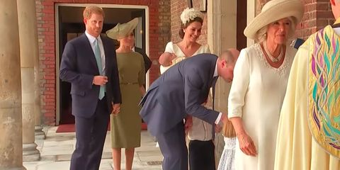 1f4a6c0e7 Meghan Markle and Prince Harry Adorably Held Hands at Prince Louis'  Christening