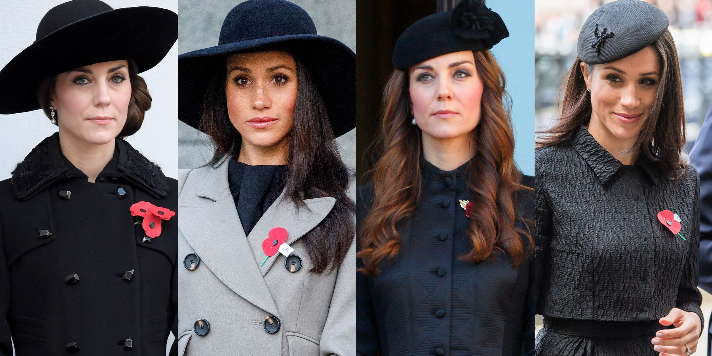 Meghan Markle Channeled Kate Middletons Stylish Hats Twice in One Day