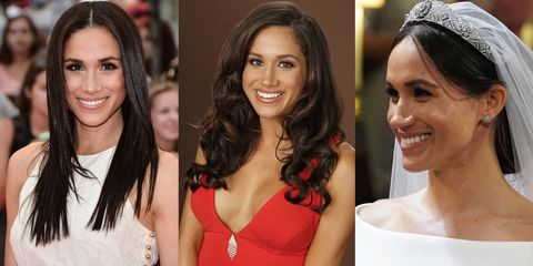 Meghan Markle S Hairstyles Through The Years Meghan