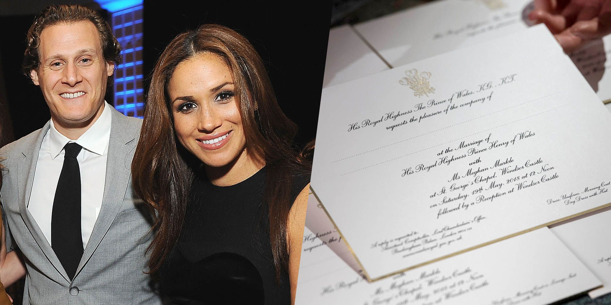 meghan markle s divorce was subtly referenced in the royal wedding invitations royal wedding invitations