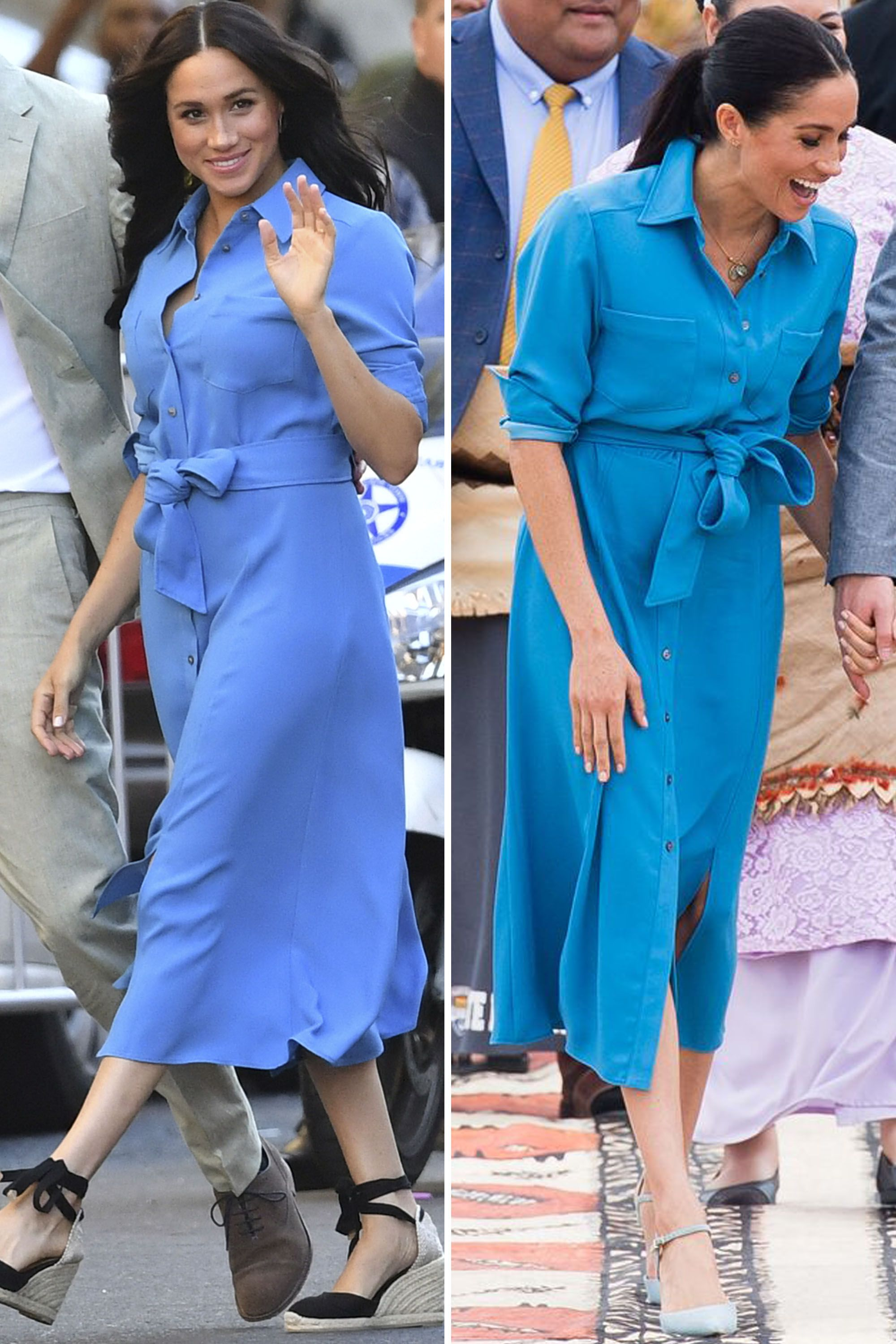 Meghan Markle Re-wears Her Veronica Beard Dress from Her Last Royal Tour