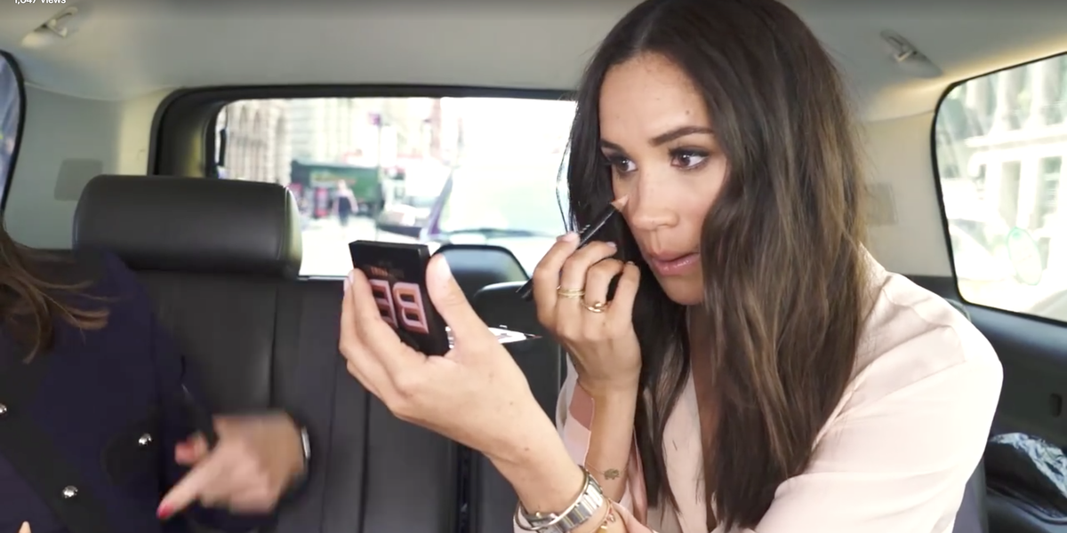 meghan markle did a makeup tutorial in the back of an uber and we all missed it meghan markle did a makeup tutorial in the back of an uber and we all missed it