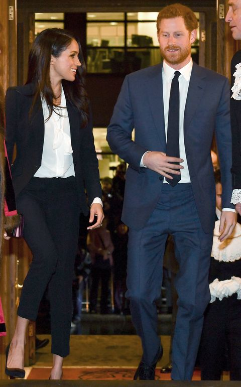 meghan markle wears an alexander mcqueen suit meghan markle and prince harry at endeavor awards alexander mcqueen suit meghan markle