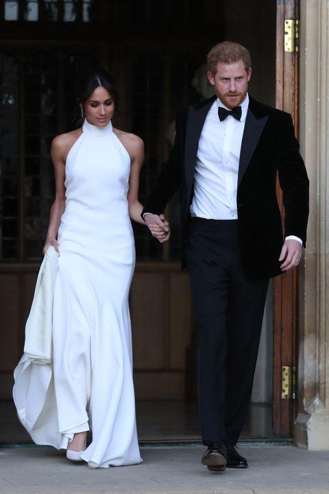 Meghan Markle\'s Second Wedding Dress Channels Carolyn Bessette Kennedy