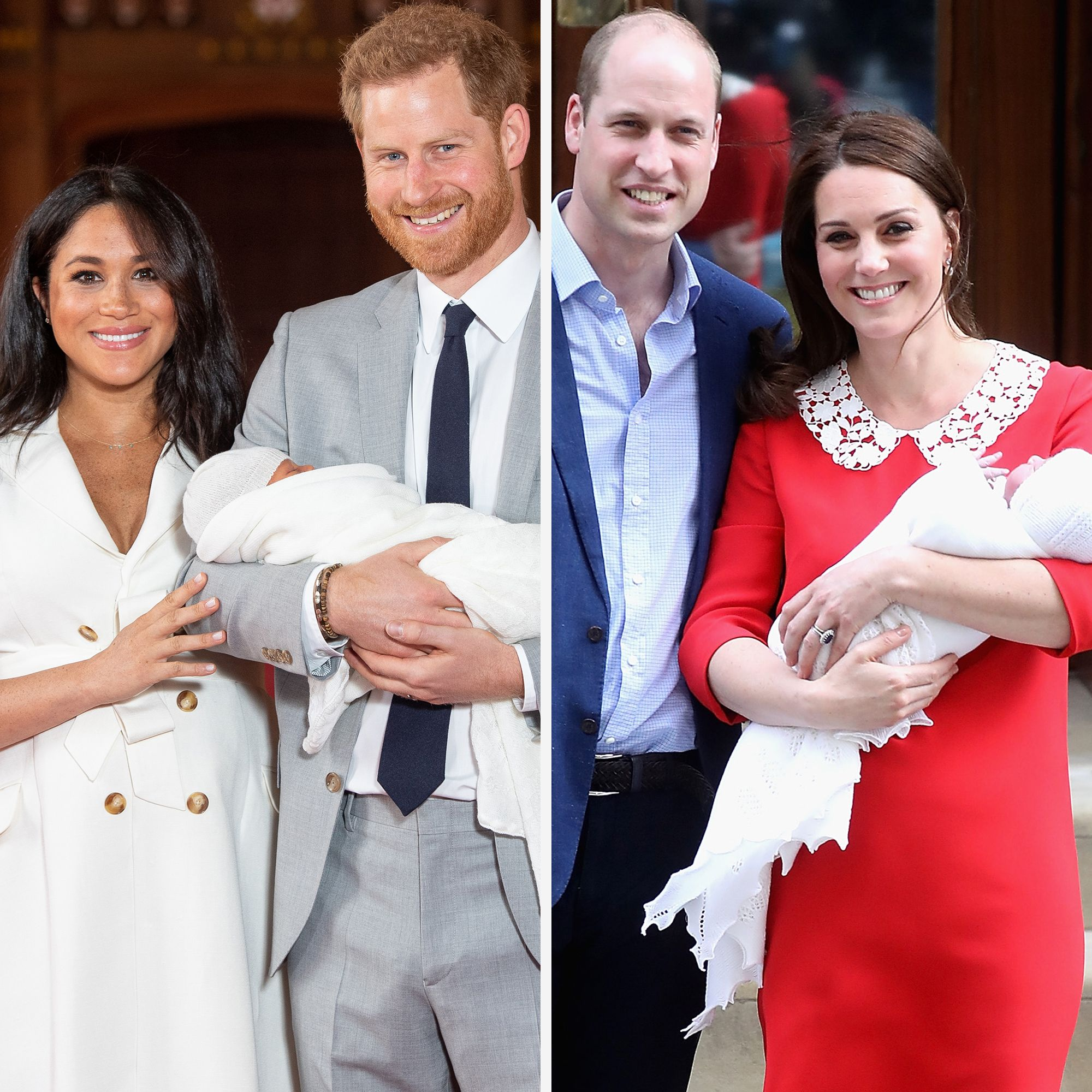 Flipboard: How Meghan & Harry's Royal Baby Photos Compare