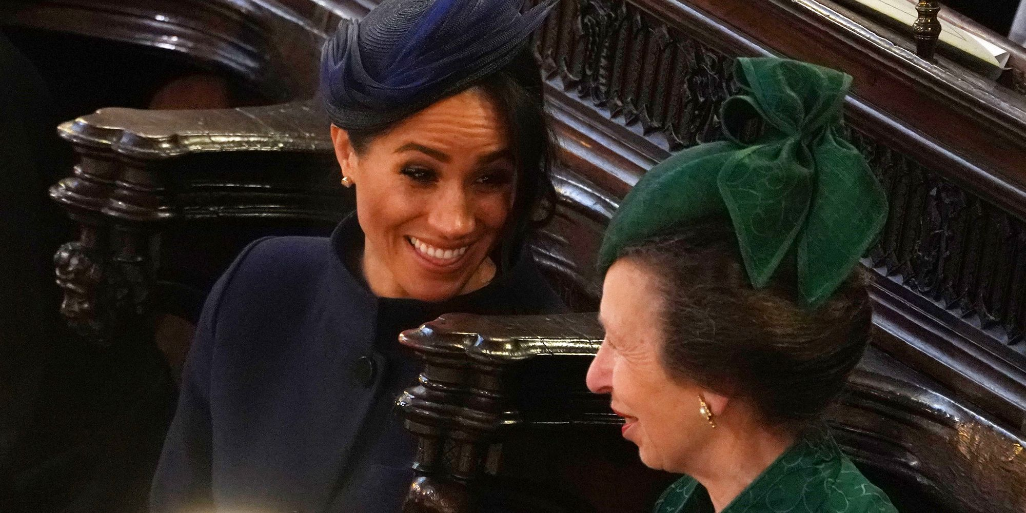 Meghan Markle and Princess Anne Enjoy a Fun Chat at Princess Eugenie and Jack Brooksbanks Wedding