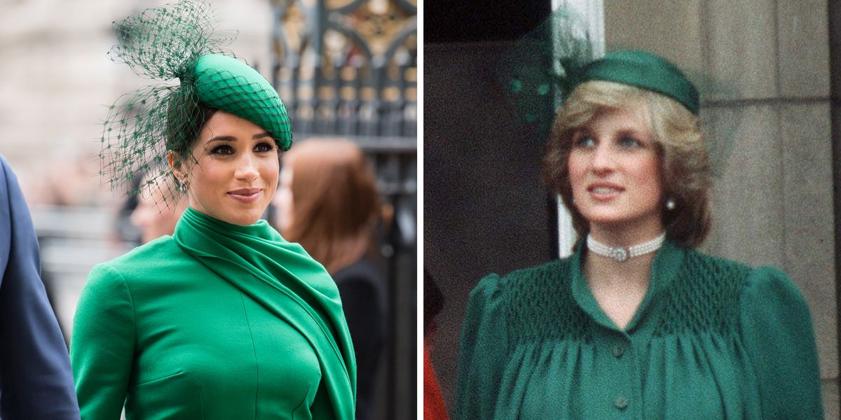 Meghan Markle Coincidentally Twinned with Princess Diana in Her Emerald Look