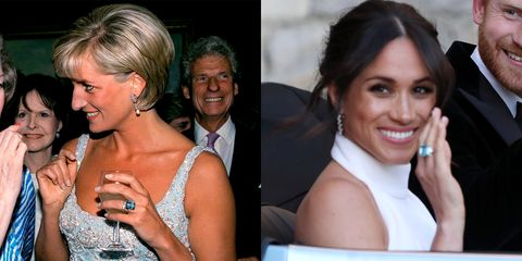 meghan markle borrowed a cocktail ring from princess diana meghan markle wears princess diana s ring meghan markle borrowed a cocktail ring