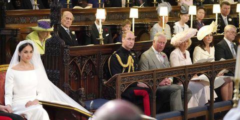 empty seat royal wedding 2018