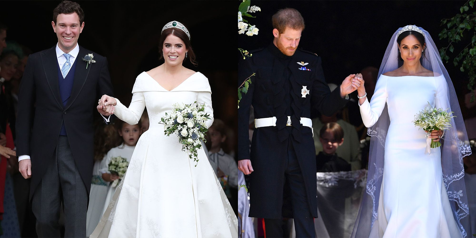 Princess Eugenies Wedding Compared to Meghan Markle and Prince Harrys