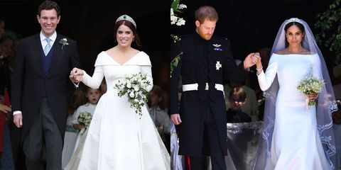 Meghan Markle Wedding Pictures.Princess Eugenie S Jack Brooksbank S Wedding Compared To Meghan