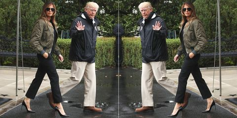 Melania Trump, Texas, Harvey