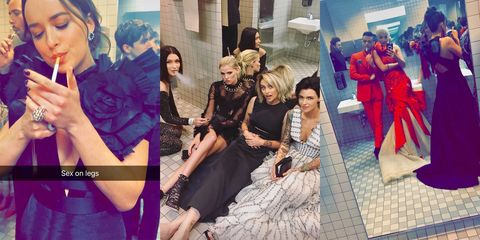 Celebrities Smoking In Met Gala Bathroom Celebs Party In Met Gala - Party in the bathroom