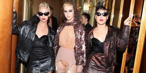 Clothing, Eyewear, Fashion accessory, Fashion, Mask, Fashion model, Eyelash, Fashion design, Sunglasses, Makeover,