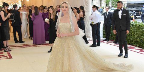 Gown, Dress, Wedding dress, Clothing, Photograph, Bride, Bridal clothing, Fashion, Shoulder, Event,