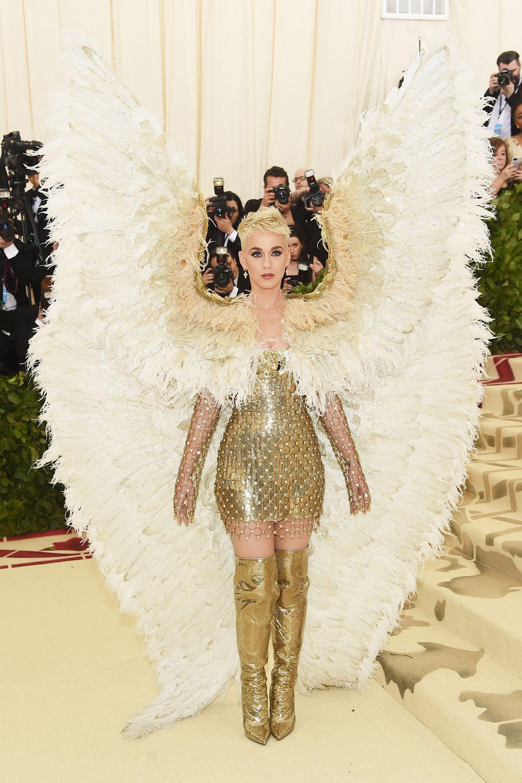 771dcae4c3 Katy Perry Wore Angel Wings to the Met Gala 2018 Red Carpet
