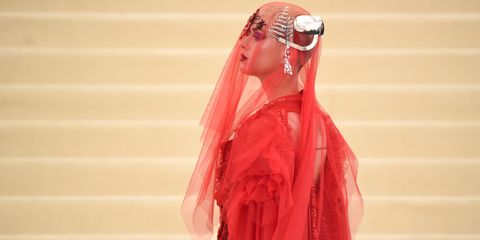 Veil, Pink, Red, Clothing, Shoulder, Dress, Fashion, Fashion design, Outerwear, Joint,