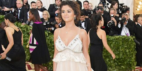 Getty Images Selena Gomez S Sheer Dress For The Met Gala