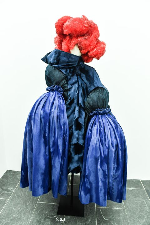Blue, Clothing, Red, Outerwear, Fashion, Costume, Electric blue, Dress, Textile, Costume design,