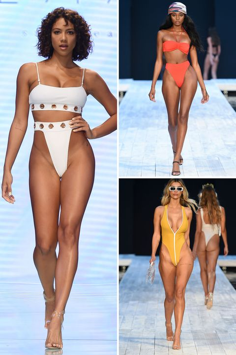 Fashion model, Clothing, Bikini, Swimwear, Monokini, Human leg, Competition event, Fashion, Thigh, Leg,