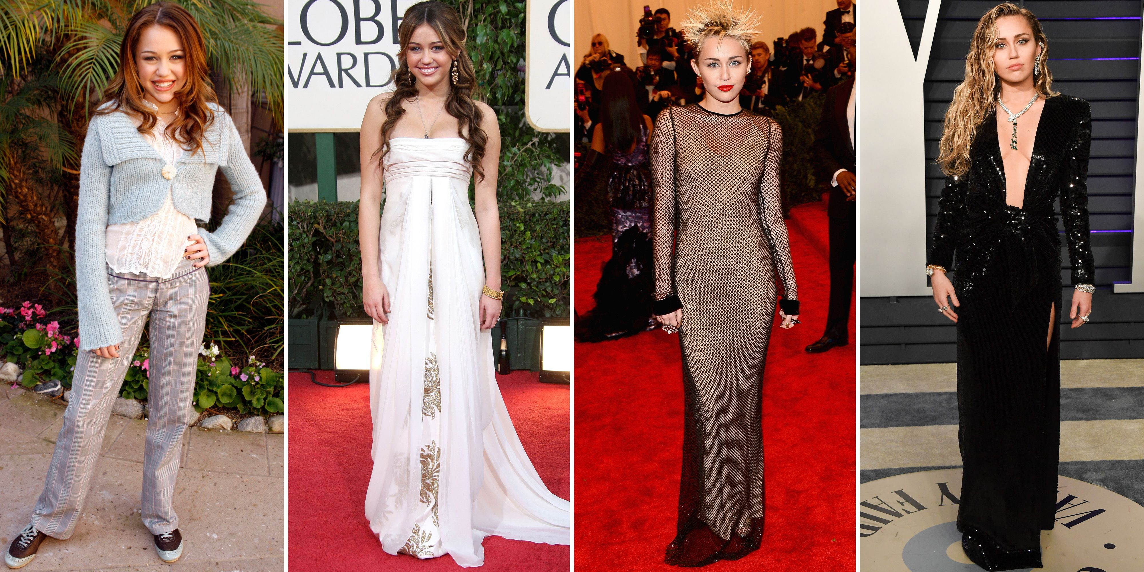 Miley Cyrus Style Transformation Miley Cyrus Red Carpet Photos