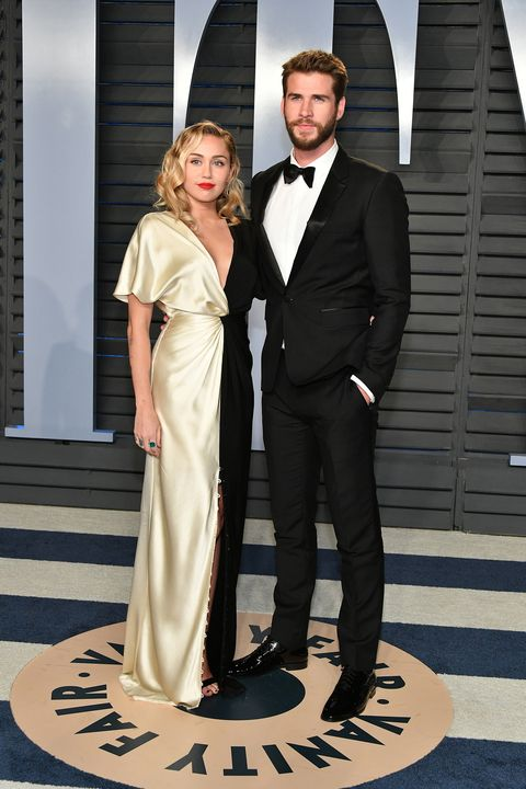 Miley Cyrus And Liam Hemsworth Attend Oscars Party Together