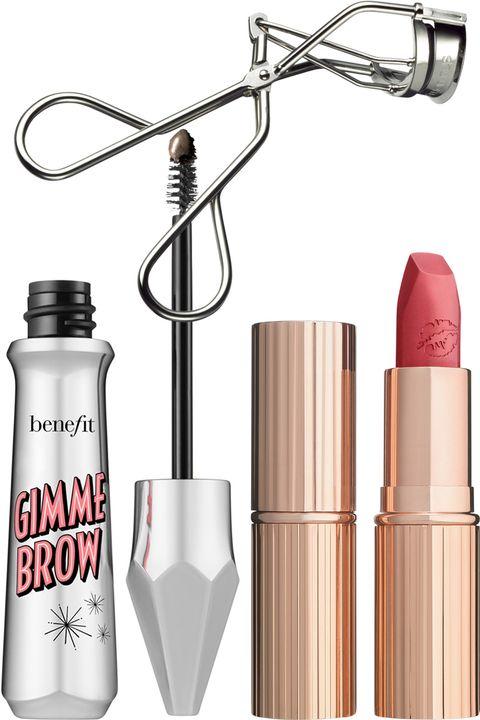 fcf69f2cce956a From top, clockwise: Charlotte Tilbury Hot Lips lipstick in Miranda May,  $34, shop.nordstrom.com; Shu Uemura Eyelash Curler, $21, amazon.com;  Benefit Gimme ...