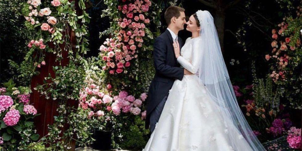 53b6a0faf5ff See Miranda Kerr's Wedding Dress - Miranda Kerr's Dior Wedding Gown Took  Notes from Grace Kelly