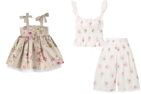 Clothing, White, Product, Pink, Dress, Day dress, Pattern, Pattern, Design, Baby & toddler clothing,