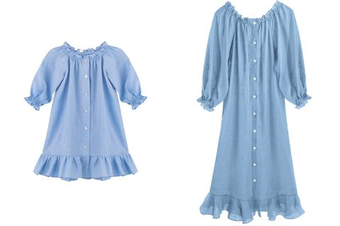 Clothing, Blue, Day dress, Sleeve, Dress, Blouse, Cover-up, Robe,