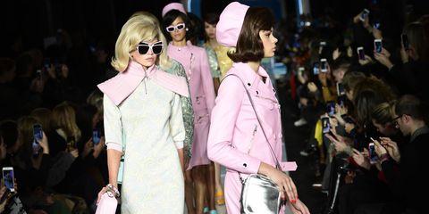 Eyewear, Fashion, Pink, Street fashion, Event, Sunglasses, Fashion show, Fashion model, Fashion design, Haute couture,