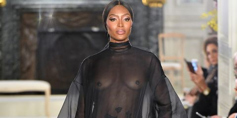 Naomi Campbell, Living Legend, Closes the Valentino Couture Show