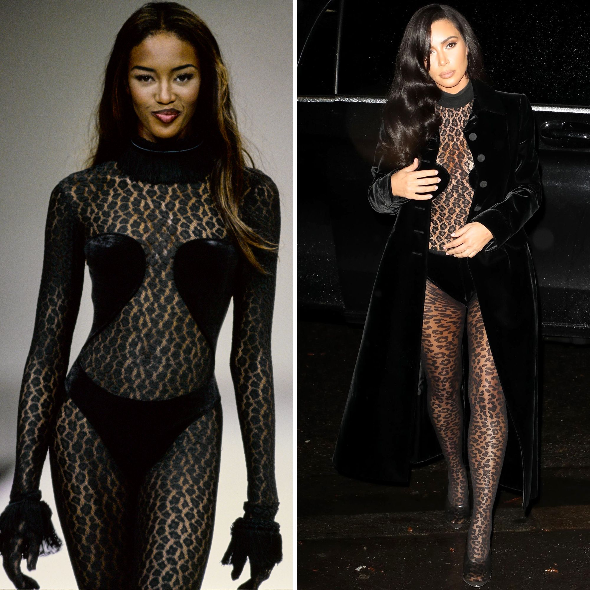 Kim Kardashian Keeps Copying Naomi Campbell's '90s Outfits and Fashion