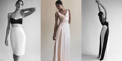 Clothing, Dress, Shoulder, Gown, Fashion model, Wedding dress, Fashion, Standing, Bridal clothing, Joint,