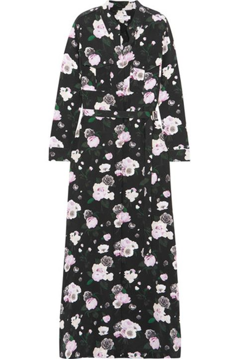 Clothing, Sleeve, Dress, Pink, Day dress, Robe, Pattern, Outerwear, T-shirt, Plant,