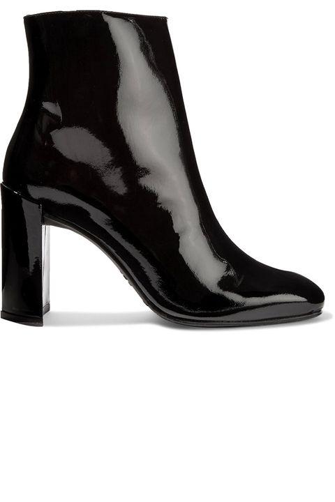 Footwear, Black, Shoe, High heels, Boot, Leather, Leg, Sandal,