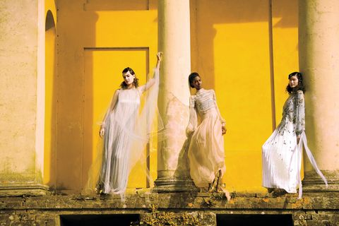 Yellow, Dress, Fashion, Photography, Window, Art,