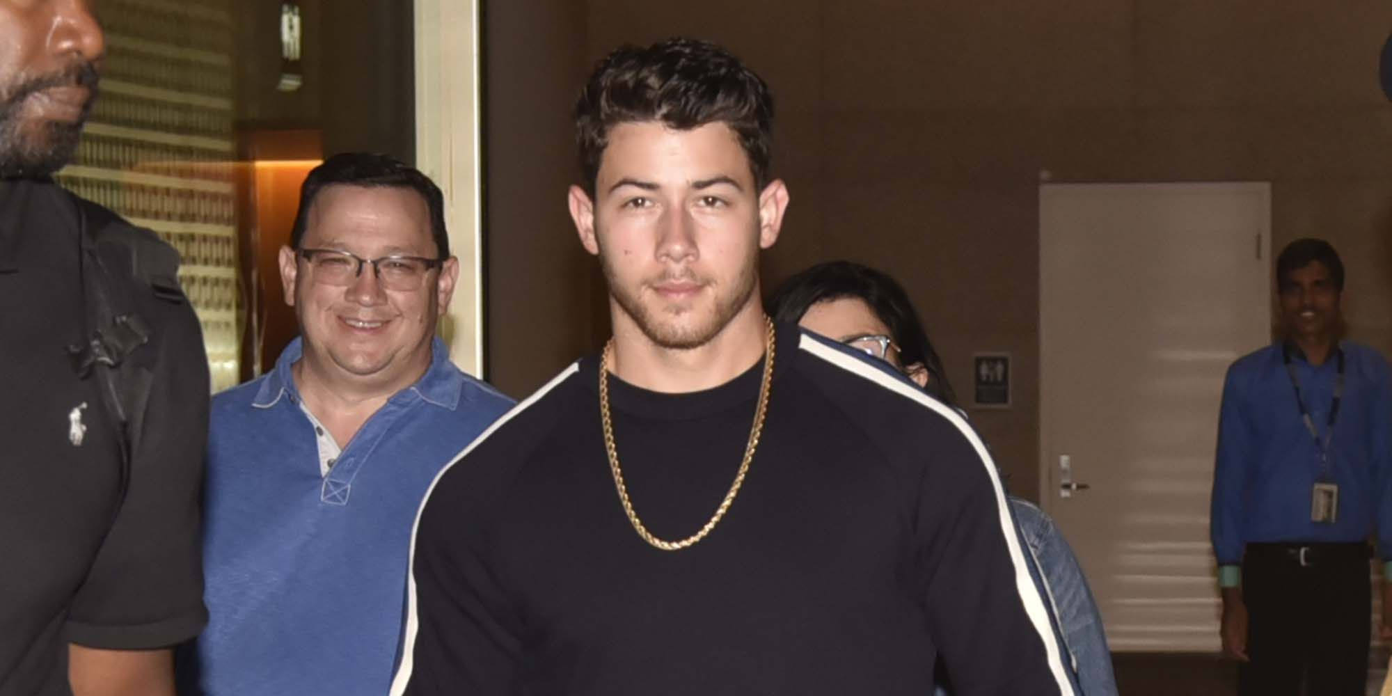 Nick Jonas Is Seen arriving at Mumbai Airport along side his Parents for an Engagement Party