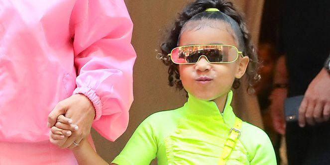 Kim Kardashian With Her Daughter North West In New York