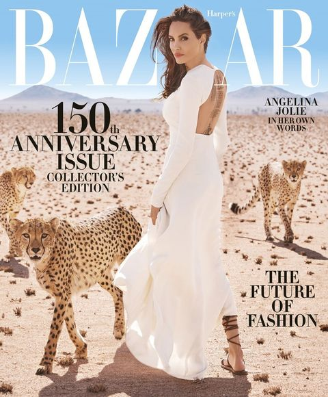 #Angelina Jolie Harpers Bazaar 150th Anniversary Issue